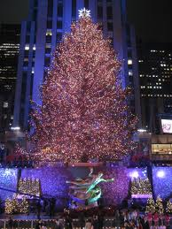 Rockefeller Center's gigantic Christmas tree