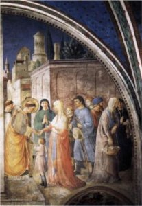 St Stephen distributing alms. Frank Angelico