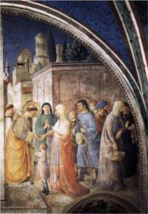 St Stephen distributing alms. Frank Angelico