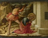 The Beheading of St. James by Fra Filippo Lippi, 1455  (part of the Pistoia Sante Trinita Altarpiece in the National Gallery, London)