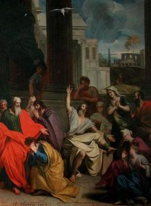 The Prophecy of Agabus  by Louis Cheron (1660-1713)