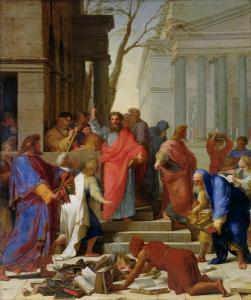 """""""The Sermon of St. Paul at Ephesus"""" by Eustache Le Sueur, 1649 (The Louvre, Paris)"""
