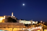 Tower of David and Jerusalem walls at night