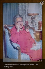 "Corrie ten Boom, ""The Hiding Place"" (Photo credit: Corrie ten Boom Museum)"