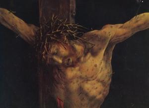 """Crucifixion"" Mathias Grünewald,c.1512/15 Isenheim Altarpiece,  Musée d'Unterlinden, Colmar"