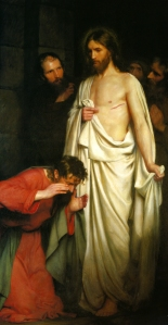 """The Doubting Thomas"" Carl Heinrich Bloch, (1834 - 1890)"