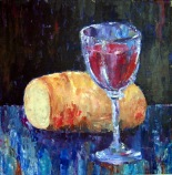 """Bread and Wine"" by Norwegian painter Kjersti Timenes, 2003."