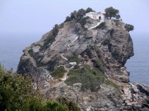 The Church of Agios Ioannis On the island of Skopelos