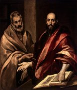 """The Apostles Peter and Paul"" El Greco, 1587-92 Hermitage Museum, St Petersburg, Russia"