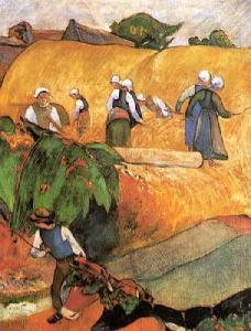 Harvest Scene Paul Gauguin