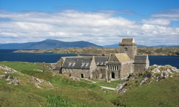 Iona Abbey, founded by St Columba in 563 AD