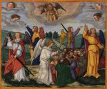 Angels Holding the Four Winds / The Sealing of the 144,000, Revelation 7:1-8 Ottheinrich Bible (1530-1532) Bavarian State Library, Germany