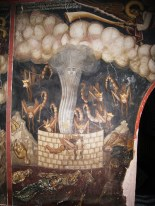 Greece, Chalkidiki, Mount Athos peninsula, World Heritage Site, Dionysiou monastery, Frescoes of the Book of Revelation or Apocalypse of Saint John
