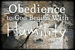 obedience - humility