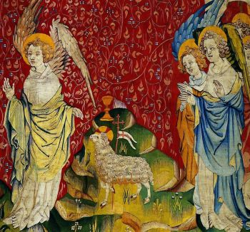 Three angels with the Lamb Apocalypse Tapestry, Angers