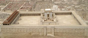 This is a photo of a scale model of the Temple on the Temple Mount in Herodian Jerusalem, 1st century CE. (Israel Museum in Jerusalem).