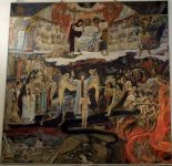 """The Last Judgement"" by Viktor Vasnetsov 1904. Oil on canvas 690*700. Located in the Crystal Museum, St. George's Cathedral, Gus Khrustalny, Vladimir Region, Russia."