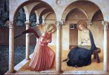 """Beato Angelico Annunciazione""  Fra Angelico (1437-46) San Marco Museum, Florence"