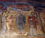 """Jesus teaching in Temple"" Marko's Monastery in the Republic of Macedoinia ca. 1375"