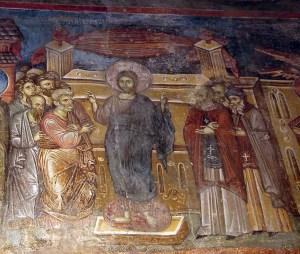 """Jesus teaching in Temple"" Marko's Monastery in the Republic of Macedoinia ca. 1375"