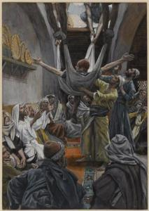 The Palsied Man Let Down through the Roof  James Tissot, ca. 1886-94 The Brooklyn Museum