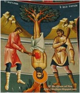 Martyrdom of St Ephraim (click here for story)