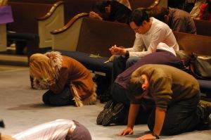 repentance kneeling