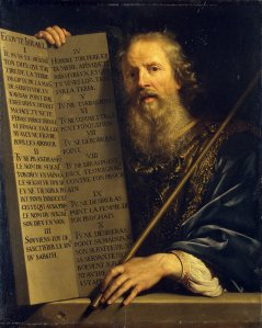 Moses with the Ten Commandments Philippe de Champaigne, 1648 Hermitage Museum