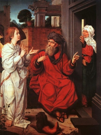 Abraham, Sara and an Angel Jan Provoost, ca. 1520 Musée du Louvre, Paris, France