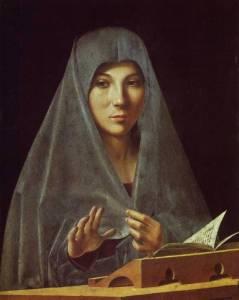 The Annunciation Antonello da Messina, 1474-75 Galletria Nazionale della Sicilia,  Palermo, Italy