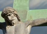 Christ on cross - bronze