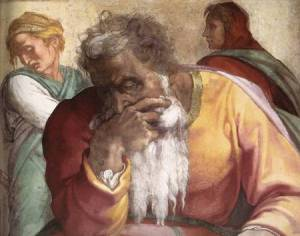 Jeremiah, as depicted by Michelangelo from the Sistine Chapel