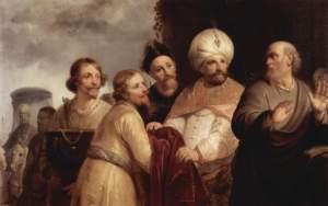 Elisha refusing the gifts of Naaman Pieter Fransz de Grebber, 1637 Frans Hals Museum,  Haarlem, Netherlands