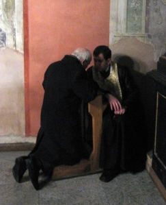 Confession in a Ukrainian Greek Catholic Church