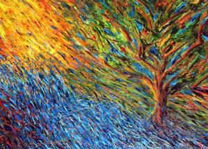 Tree planted bu rivers