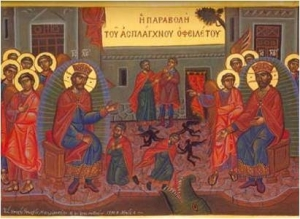 Parable of the Unmerciful Servant Russian Icon