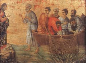 Appearence on Lake Tiberias Duccio Di Buoninsegna, 1308-11 Museo Dell'Opera Del Duomo, Siena, Italy
