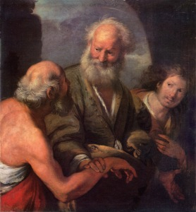 St Peter Cures the Lame Beggar Bernardo Strozzi, 17th century Lviv National Art Gallery, Ukraine