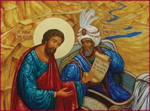 Philip and Ethiopian icon, Chora Museum Istanbul