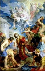 The Stoning of St. Stephen from the Triptych of St. Stephen Peter Paul Rubens, 1625 Musee des Beaux-Arts, Valenciennes, France