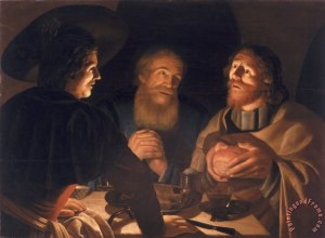 Supper at Emmaus Cryn Hendricksz Volmaryn, 1632