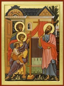 Aquila, Priscilla and Paul Orthodox Icon