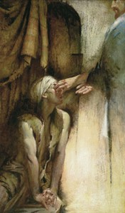 He Anointed the Eyes of the Blind Man Walter Rane