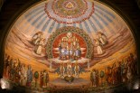 The fresco at Holy Trinity Church in Lorain, photographed after Wednesday morning mass, August 26, 2009.
