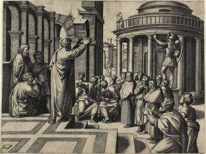 Saint Paul Preaching at Athens, 1517/20 Marcantonio Raimondi (Italian, c. 1480-1534) after Raphael (Italian, 1483-1520) The Art Institute of Chicago