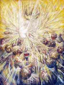 """the Holy Spirit fell upon all who heard the word"""