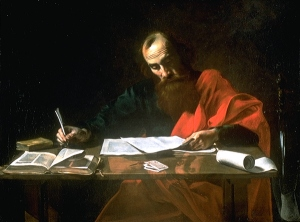 St Paul Writing His Epistles Valentin de Boulogne, ca. 1619 Museum of Fine Arts, Houston