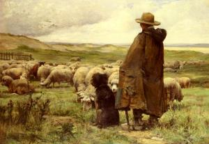 The Shepherd Julien Dupre (1851-1910) Private Collection