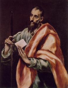 St. Paul  by El Greco, c. 1608-1614 St Louis Art Museum, USA
