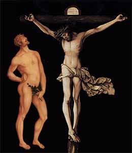Adam and Christ  Hans Baldung Grien Adam composite
